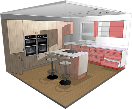 3d kitchen planner design a kitchen online easily for free. Black Bedroom Furniture Sets. Home Design Ideas