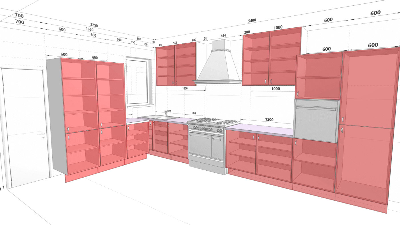 Gallery 3d kitchen planner for Plan your kitchen